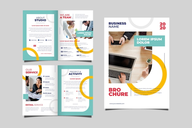 Zestaw koncepcji broszury biznesowej