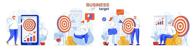 Zestaw koncepcji celu biznesowego analiza konsumencka planowanie i realizacja celów