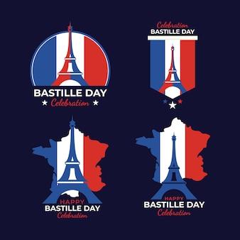 Zestaw koncepcji dzień bastylii