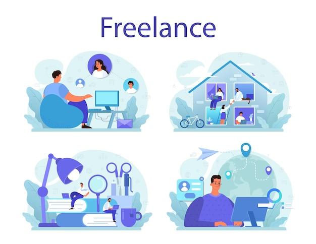 Zestaw koncepcji freelance