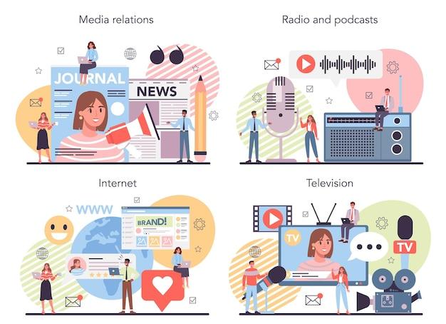 Zestaw koncepcji mediów