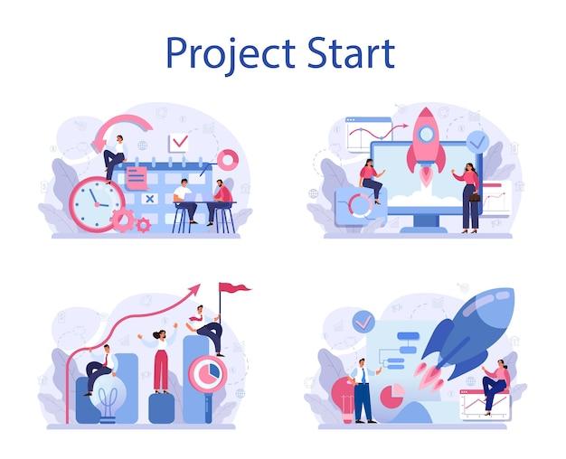 Zestaw koncepcji rozpoczęcia projektu