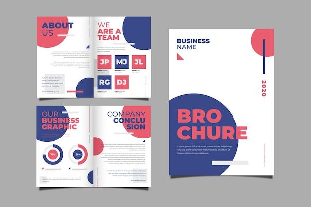 Zestaw koncepcji streszczenie broszura