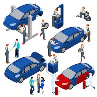 Zestaw koncepcji usługi auto