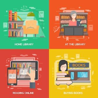 Zestaw koncepcyjny biblioteki
