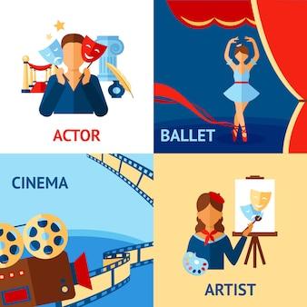 Zestaw koncepcyjny sztuki i kultury