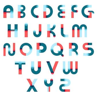 Zestaw konstruktora alfabetu memphis