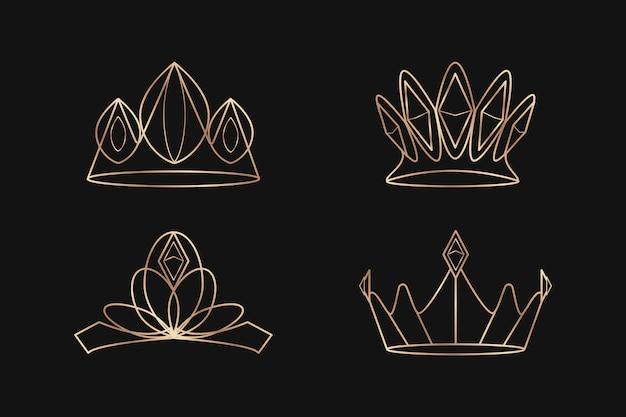 Zestaw koron królewskich