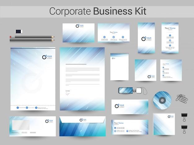 Zestaw korporacyjny lub projekt brandingu.