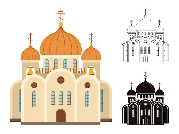 Zestaw kościoła chrześcijańskiego