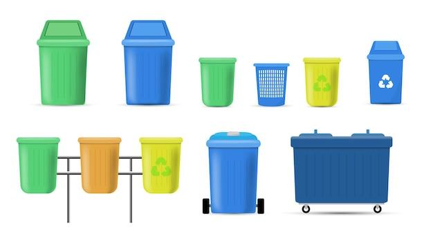 Zestaw kosza na śmieci i puszki na śmieci
