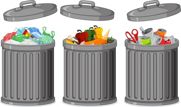 Zestaw kosza na śmieci