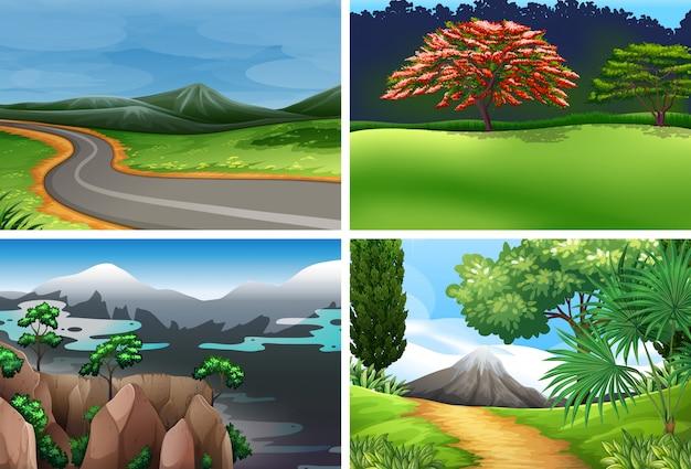 Zestaw krajobrazu przyrody
