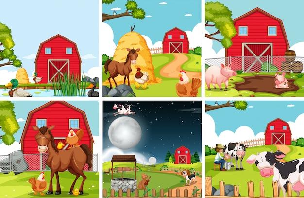 Zestaw krajobrazu rolniczego