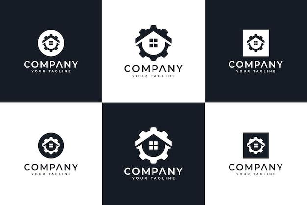 Zestaw kreatywnego projektowania logo sprzętu domowego do wszystkich zastosowań