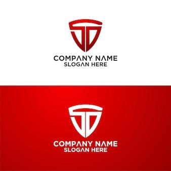 Zestaw kreatywnego szablonu projektu logo wektora listu tarczy premium wektorów