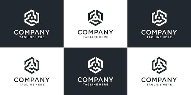 Zestaw kreatywnych inspiracji do projektowania logo
