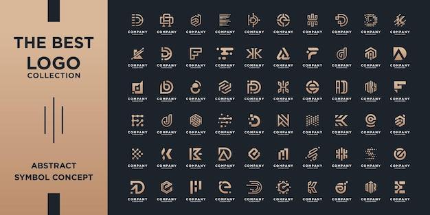 Zestaw kreatywnych kolekcji inicjały litery monogram az szablon projektu logo