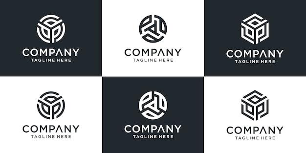 Zestaw kreatywnych list szablon logo ppp
