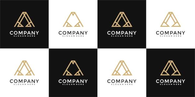 Zestaw kreatywnych listów monogramowych inspiracji do projektowania logo logo