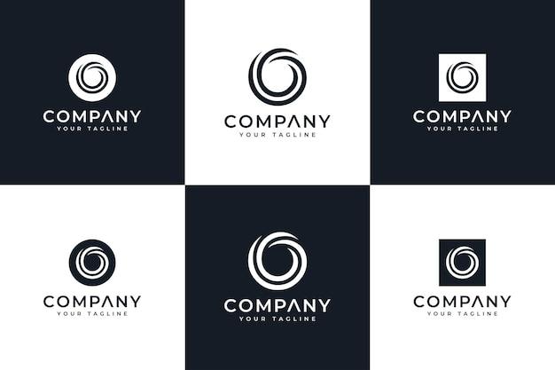 Zestaw kreatywnych listów o logo do wszystkich zastosowań