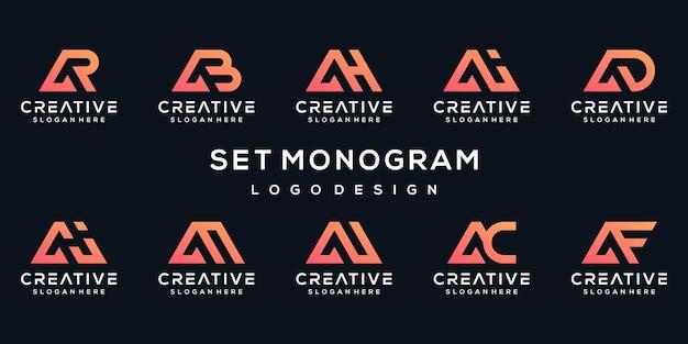 Zestaw kreatywnych listu kolekcja projektu logo