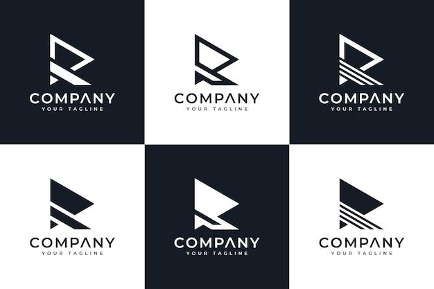 Zestaw kreatywnych logo litery r do wszystkich zastosowań