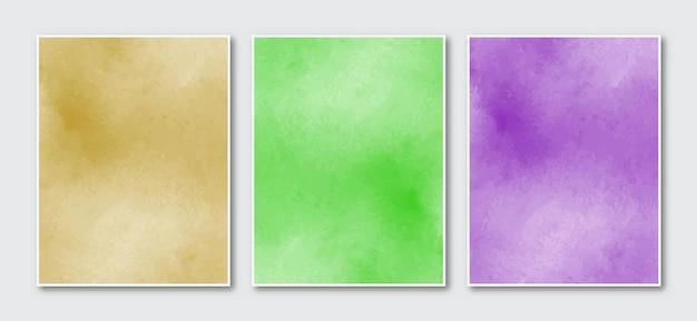 Zestaw kreatywnych minimalistycznych ręcznie malowanych plakatów