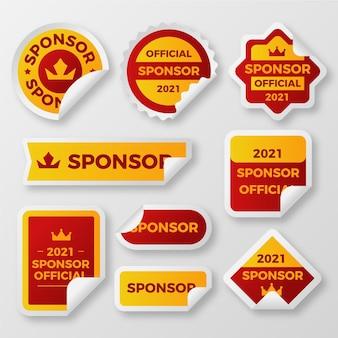 Zestaw kreatywnych naklejek sponsorujących