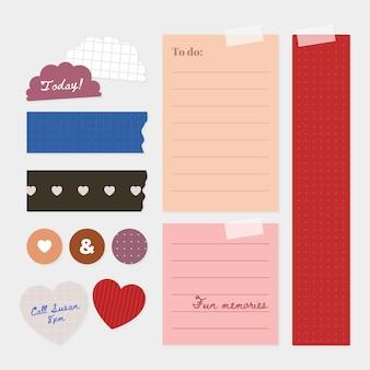 Zestaw kreatywnych notatników planisty