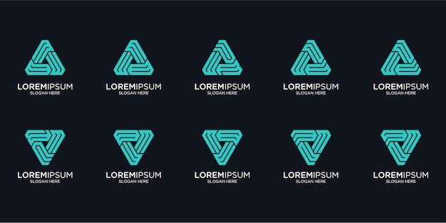 Zestaw Kreatywnych Projektów Logo Monogram Premium Wektorów