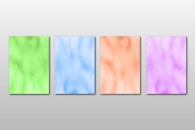 Zestaw kreatywnych ręcznie malowanych abstrakcyjnych akwareli