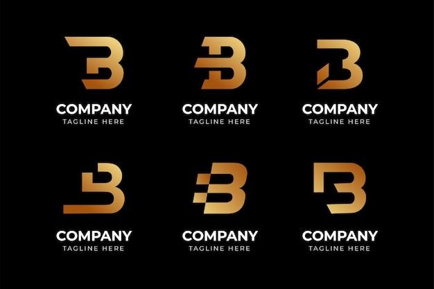 Zestaw kreatywnych streszczenie litera b kolekcji szablonów projektu logo