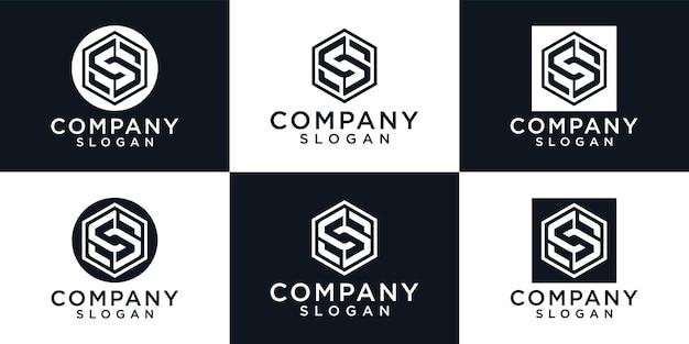 Zestaw kreatywnych szablonów logo list monogram