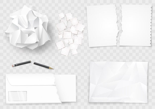 Zestaw kremowych arkuszy papieru i długopisu