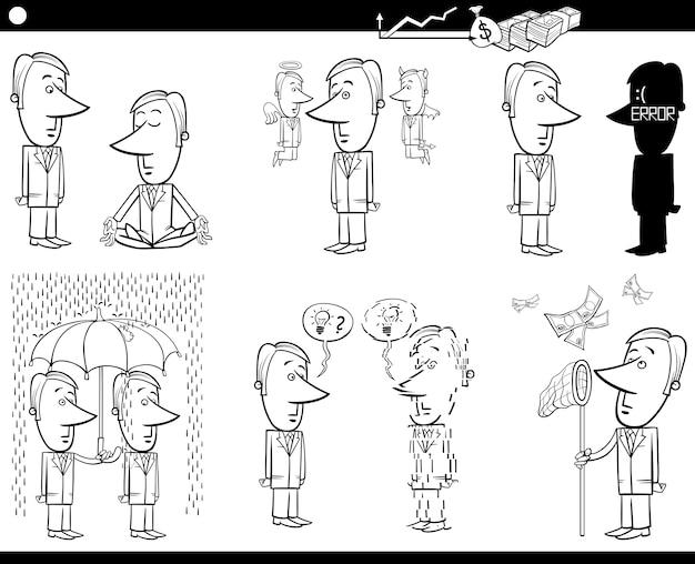 Zestaw kreskówek biznesowych