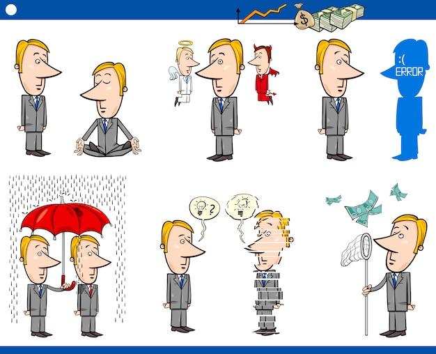 Zestaw kreskówek koncepcja biznesowa