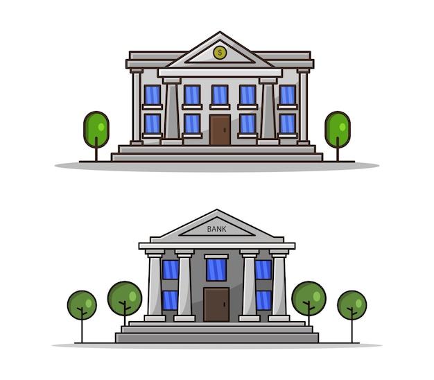 Zestaw kreskówka banku