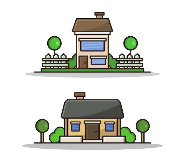Zestaw kreskówka dom