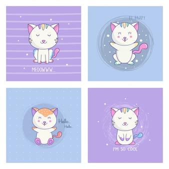 Zestaw kreskówka kot