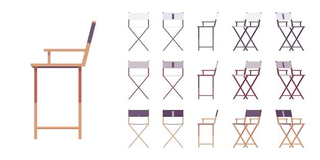 Zestaw krzeseł składanych