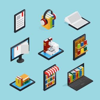 Zestaw książek online izometryczny