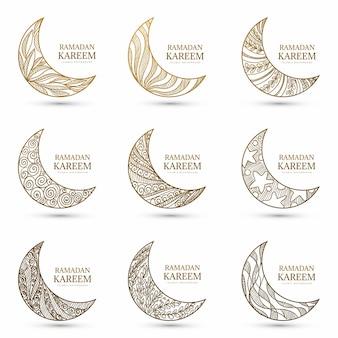 Zestaw księżycowy ramadan kareem