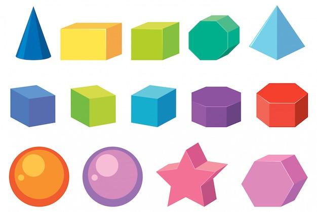 Zestaw kształtów geometrii