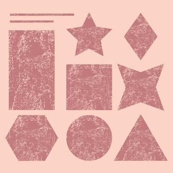 Zestaw kształtów geometrycznych grunge