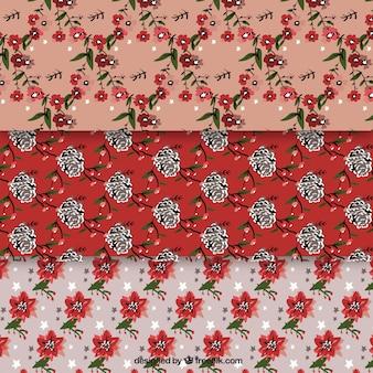 Zestaw kwiatów wzory zabytkowe