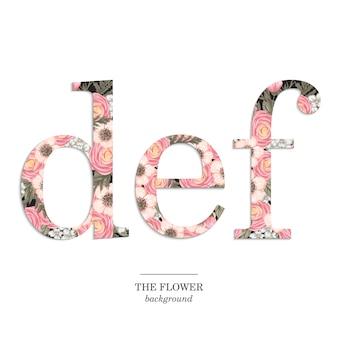 Zestaw kwiatowy alfabet