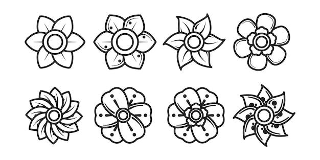 Zestaw kwiatowy ornament