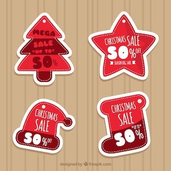 Zestaw ładny christmas naklejek na sprzedaż