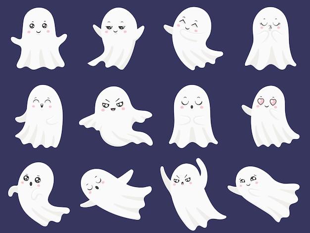 Zestaw ładny duchy halloween